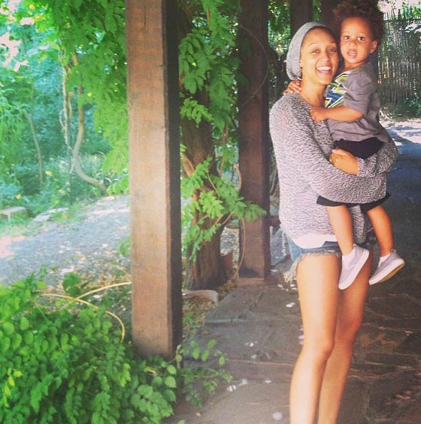 "<div class=""meta ""><span class=""caption-text "">Tia Mowry of 'Sister, Sister' and 'Tia and Tamera' fame shared this Instagram photo of himself with her and husband Corey Hardrict's 2-year-old son, Cree, on July 4, 2013, saying: 'Happy 4th from the Hardricts!!! We  (http://instagram.com/p/bXLnKMpfth/ / twitter.com/tiamowry)</span></div>"