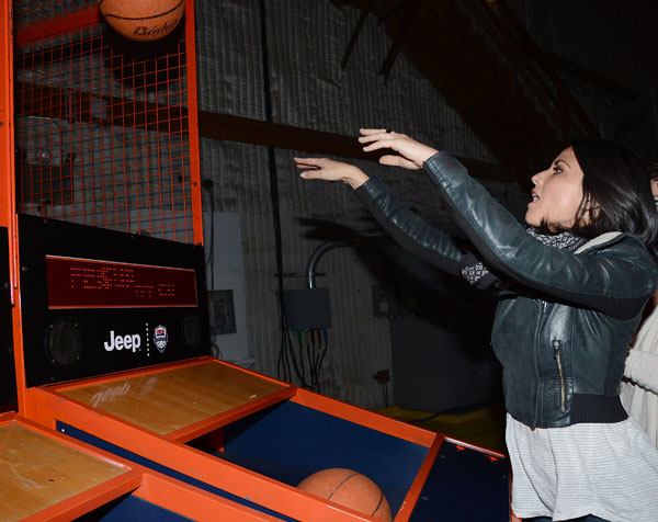 Olivia Munn attends the launch of the 2012 Jeep Wrangler Unlimited Altitude Edition at the Los Angeles Center Studios on April 22, 2012. Jeep is a sponsor of USA Basketball. Celebrities shot baskets at the Pop-a-Shot and danced to beats spun by DJ Biz Markie. <span class=meta>(WireImage &#47; Chris Weeks)</span>