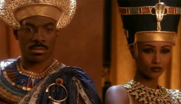 "<div class=""meta ""><span class=""caption-text "">Eddie Murphy and supermodel Iman appeared in Michael Jackson's music video 'Remember The Time,' which was released in 1992. Murphy and Iman play a Pharoah and his partner who are looking for entertainment. Jackson appears as a hooded wizard after two previous entertainers were sent to be executed. He begins to sing and serenade Iman, who appears delighted, while Murphy appears uncomfortable. Murphy orders his guards and staff to seize Jackson, and the singer runs away and participates in a series of elaborate dance routines. Murphy is known for films such as 'The Nutty Professor' and 'Haunted Mansion.' (MJJ Productions Inc.)</span></div>"