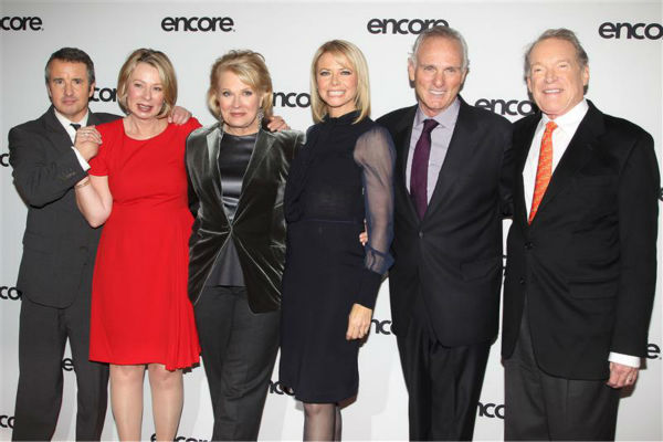 The time the cast of the 1990s comedy series &#39;Murphy Brown&#39; -- Grant Shaud,  Diane English, Candice Bergen, Faith Ford, Joe Regalbuto and Charles Kimbrough -- reunited at the &#39;Murphy Brown&#39; 25th anniversary event at the Museum of Modern Art in New York City on Dec. 11, 2013. <span class=meta>(Amanda Schwab &#47; Startraksphoto.com)</span>