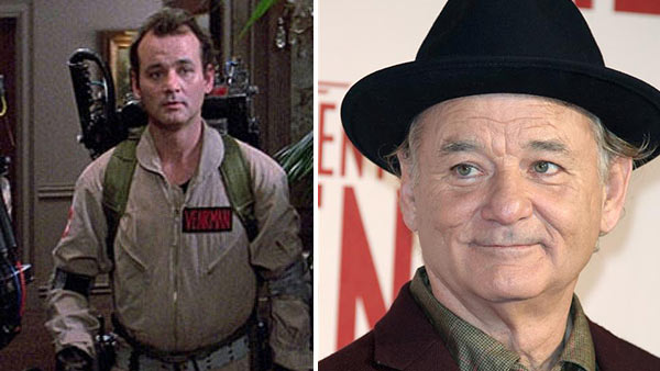 Bill Murray appears as Dr. Peter Venkman in the 1984 film 'Ghostbusters.' / Bill Murray appears at the premiere of 'The Monuments Men' in London on Feb. 11, 2014.