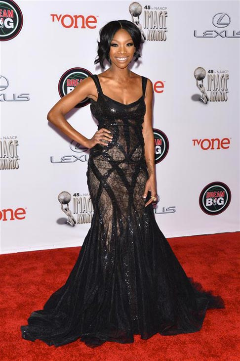 Brandy Norwood appears at the 2014 NAACP Image Awards in Pasadena, California on Feb. 22, 2014. <span class=meta>(Tony DiMaio &#47; Startraksphoto.com)</span>