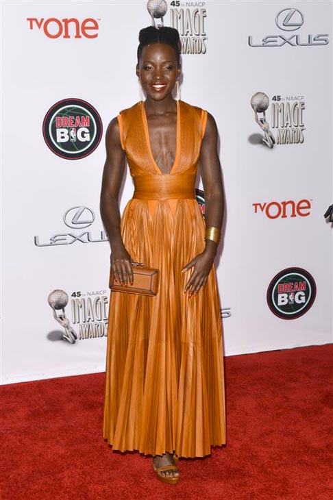 Lupita Nyong&#39;o of &#39;12 Years A Slave&#39; appears at the 2014 NAACP Image Awards in Pasadena, California on Feb. 22, 2014. <span class=meta>(Tony DiMaio &#47; Startraksphoto.com)</span>