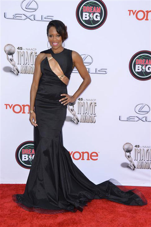 Regina King appears at the 2014 NAACP Image Awards in Pasadena, California on Feb. 22, 2014. <span class=meta>(Tony DiMaio &#47; Startraksphoto.com)</span>