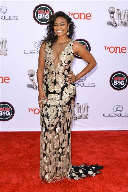 "<div class=""meta ""><span class=""caption-text "">Tatyana Ali of 'The Fresh Prince of Bel-Air' fame appears at the 2014 NAACP Image Awards in Pasadena, California on Feb. 22, 2014. (Tony DiMaio / Startraksphoto.com)</span></div>"
