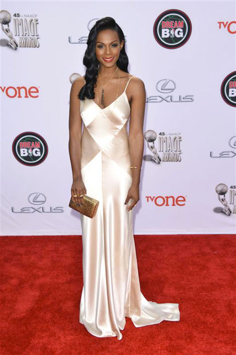 Tika Sumpter appears at the 2014 NAACP Image Awards in Pasadena, California on Feb. 22, 2014. <span class=meta>(Tony DiMaio &#47; Startraksphoto.com)</span>