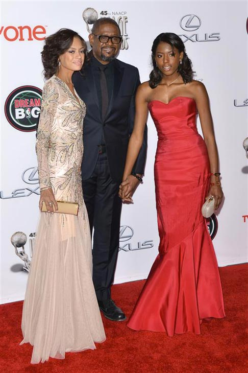 Forest Whitaker, wife Keisha Whitaker and daughter Autumn Whitaker  appears at the 2014 NAACP Image Awards in Pasadena, California on Feb. 22, 2014. <span class=meta>(Tony DiMaio &#47; Startraksphoto.com)</span>