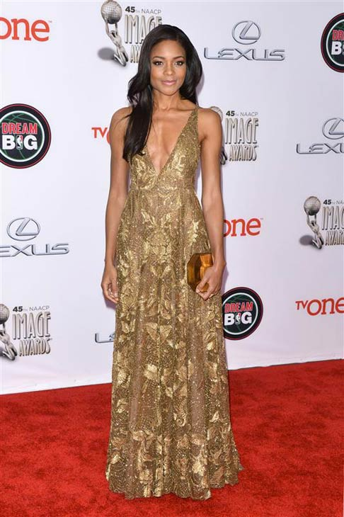 Naomie Harris appears at the 2014 NAACP Image Awards in Pasadena, California on Feb. 22, 2014. <span class=meta>(Tony DiMaio &#47; Startraksphoto.com)</span>