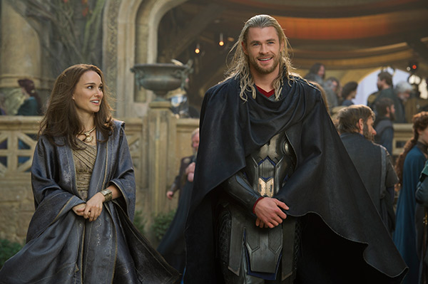 Natalie Portman &#40;Jane&#41; and Chris Hemsworth &#40;Thor&#41; appear in a scene from the 2013 movie &#39;Thor: The Dark World.&#39; <span class=meta>(Marvel Studios &#47; Walt Disney Studios)</span>