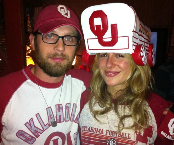 Nathan Followill and his wife Jessie Baylin appear in a photo from his official Twitter page from December 3, 2011.