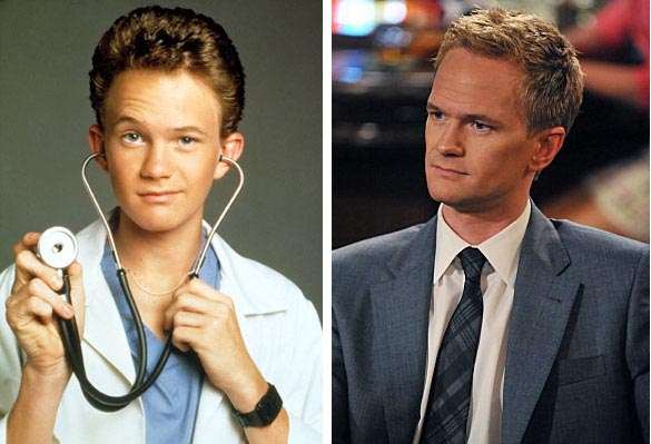 Neil Patrick Harris as Dr. Doggie Howser./Harris as Barney from 'How I Met Your Mother.'