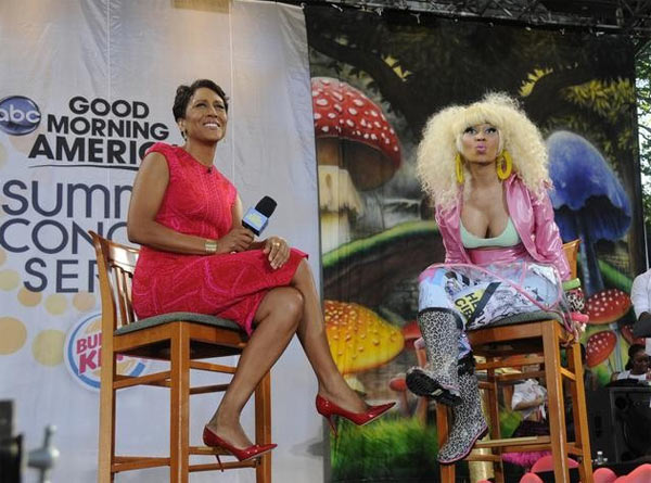 Nicki Minaj performs on 'Good Morning America' on ABC on Friday, Aug. 5, 2011.