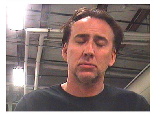 Nicolas Cage appears in a photo provided by the New Orleans Parish Sheriff's Office on April 16, 2011.