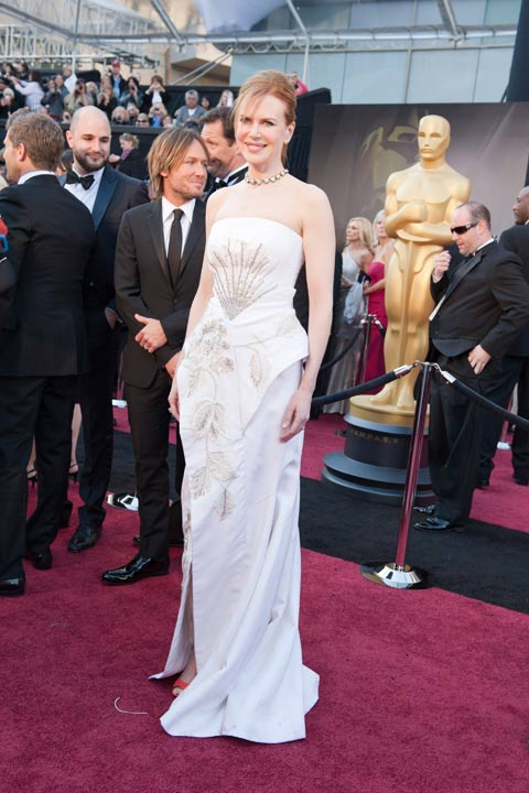 "<div class=""meta ""><span class=""caption-text "">Nicole Kidman arrives for the 83rd Annual Academy Awards at the Kodak Theatre in Hollywood, Calif. on Feb. 27, 2011. The actress dazzled in a white John Galliano gown which she paired with bright peep-toe heels.  The 2013 Oscar ceremony is scheduled to air February 24 on ABC.  (Ivan Vejar / A.M.P.A.S.)</span></div>"