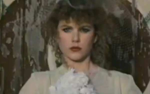 Nicole Kidman appears in a scene from the 1983 music video 'Bop Girl.'