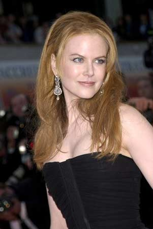 Nicole Kidman appears in a photo from the premiere of the 2001 film 'Moulin Rouge' which opened the 54th Cannes Festival.