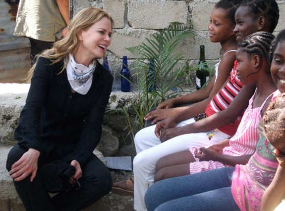 Nicole Kidman appears in a photo from a trip she took to Haiti where she visited young students in 2010. <span class=meta>(facebook.com&#47;NicoleKidman)</span>