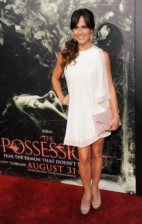 Nikki DeLoach poses at the premiere of the film...