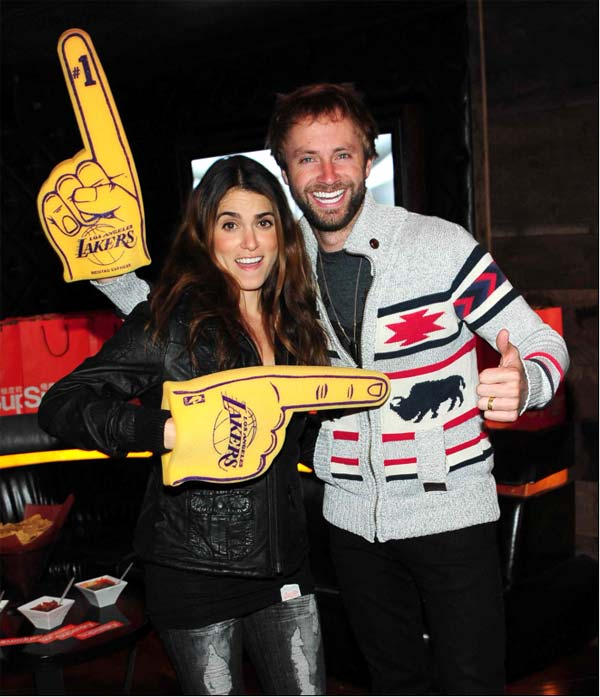 'Twilight's Nikki Reed and husband Paul McDonald celebrated the opening of Superdry USA</a>'s second Los Angeles store at the Los Angeles Lakers vs. Portland Trail Blazers game at Hyde Lounge in Staples Center on March 23, 2012.