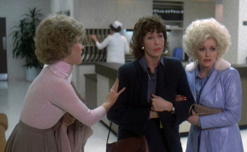 Jane Fonda, Lily  Tomlin and Dolly Parton appear in a scene from the 1980 movie 'Nine To Five.'