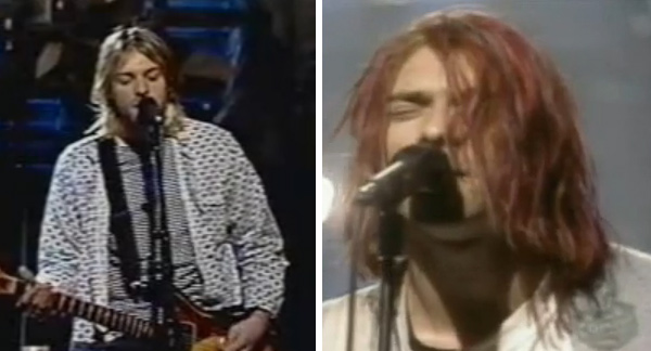 When asked what his &#39;a-ha moment&#39; was, when he realized that the album &#39;Nevermind&#39; had become bigger than himself, Dave Grohl, Nirvana&#39;s drummer who is now the singer of the Food Fighters, told the Associated Press: &#39;I&#39;d say &#34;Saturday Night Live.&#39; Being asked to be on &#39;SNL&#39; was without a doubt that moment for me. That&#39;s when I thought, &#39;Oh my God. We&#39;re one of THOSE bands now.&#39; &#39;Then, in the dressing room, that&#39;s when &#40;expletive&#41; Weird Al Yankovic calls and asks if he can do a parody of &#39;Smells Like Teen Spirit,&#39; Grohl said. &#39;That was a weird weekend. That was it for me.&#39; Nirvana has performed on the NBC sketch comedy show &#39;Saturday Night Live&#39; twice. During the first performance, in 1992, Kurt Cobain appeared on stage with his hair dyed red. After performing two songs, the band trashed the stage. The group performed on &#39;Saturday Night Live&#39; again in 1993. They played their songs &#39;Heart-Shaped Box&#39; and &#39;Rape Me.&#39; &#40;Pictured: Nirvana performs on &#39;Saturday Night Live&#39; in 1992 and in 1993.&#41;  <span class=meta>(NBC)</span>