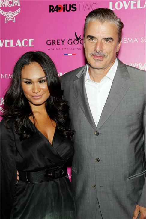 Chris Noth and wife Tara Wilson attend a screening of 'Lovelace,' hosted by the Cinema Society and MCM with Grey Goose, at the Metropolitan Museum of Art (MoMa) in New York on July 30, 2013.