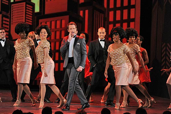 "<div class=""meta ""><span class=""caption-text "">Neil Patrick Harris' opening number  The actor and television personality opened the 67th annual ceremony with a 'legendary' number, which started with the four-time host channeling a scene from the Broadway show 'Once.' The performance continued with a jab at Shia LaBeouf -- who recently dropped out of the musical 'Orphans' -- and an impressive rap from the host himself. (CBS / Heather Wines)</span></div>"