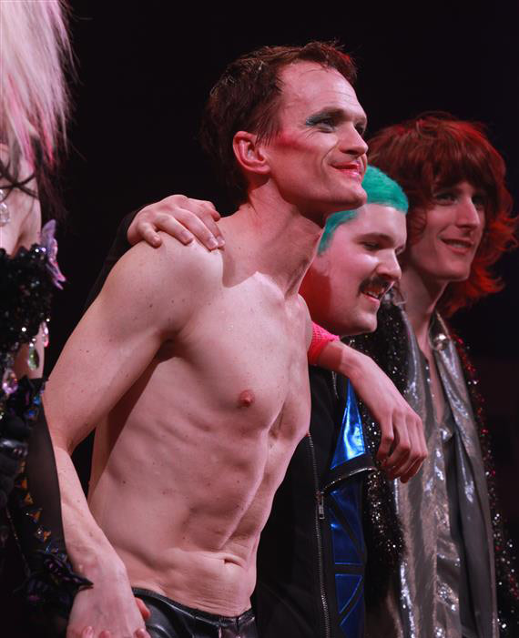 "<div class=""meta ""><span class=""caption-text "">Neil Patrick Harris appears on stage during opening night of the rock musical 'Hedwig and the Angry Itch' on Broadway in New York on April 22, 2014. The 'How I Met Your Mother' and 'Doogie Howser' alum plays a transgender East German rocker in the show, which is set during the Cold War. Hedwig lives in a trailer park in Kansas and is the singer of a band called the Angry Itch. She longs to be reunited with her lover, Tommy. (Adam Nemser / Startraksphoto.com)</span></div>"