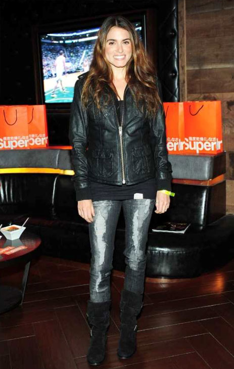 'Twilight' star Nikki Reed celebrated the opening of Superdry USA</a>'s second Los Angeles store at the Los Angeles Lakers vs. Portland Trail Blazers game at Hyde Lounge in Staples Center on March 23, 2012.