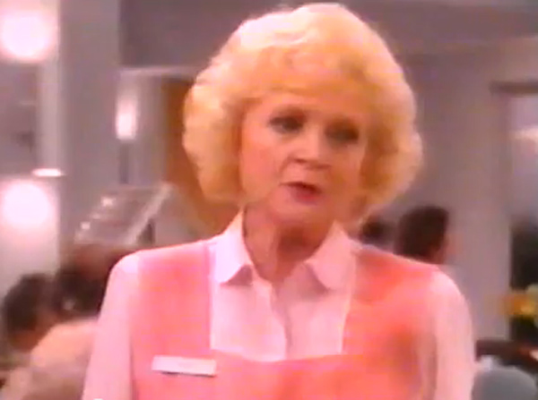 Betty White has played the same character on four different television series. Her character, Rose Nylund, was in &#39;The Golden Palace&#39; &#40;1992&#41;, &#39;The Golden Girls&#39; &#40;1985&#41;, &#39;Nurses&#39; &#40;1991&#41;, and &#39;Empty Nest&#39; &#40;1988&#41;.&#40;Pictured: Still image of Betty White from the 1990s television show &#39;Nurses.&#39;&#41; <span class=meta>(Touchstone Television)</span>