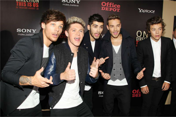 One Direction members Louis Tomlinson, Niall Horan, Zayn Malik, Liam Payne and Harry Styles attend the premiere of &#39;One Direction: This Is Us&#39; in New York on Aug. 26, 2013. <span class=meta>(Dave Allocca &#47; Startraksphoto.com)</span>