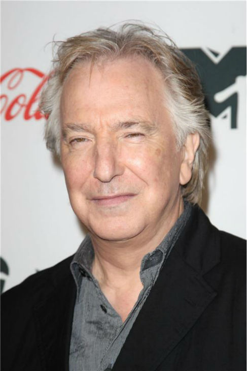 Alan Rickman attends the premiere of 'CBGB' at the BGB Music and Film Festival in New York on Oct. 8, 2013.