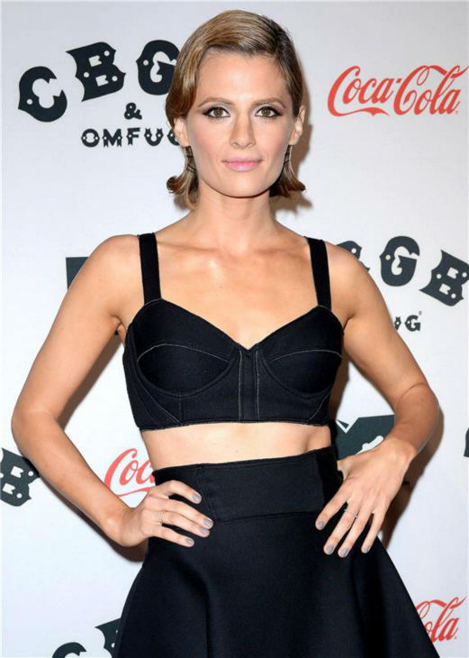 Stana Katic attends the premiere of 'CBGB' at the BGB Music and Fil