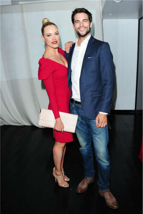 'Dancing With The Stars' pro dancer Peta Murgatroyd and show partner and actor Brant Daugherty attend a launch party for VALENTIN, show star Val Chmerkovskiy's urban streetwear couture brand clothing line, in Los Angeles on Oct. 17, 2013.