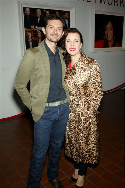 "<div class=""meta ""><span class=""caption-text "">Actress Debi Mazar and Gabriele Corcos, her co-host on the Cooking Channel's 'Extra Virgin,' attend the Food Network's 20th birthday bash at the New York City Food and Wine Festival at Pier 92 on Oct. 17, 2013. (Marion Curtis / Startraksphoto.com)</span></div>"