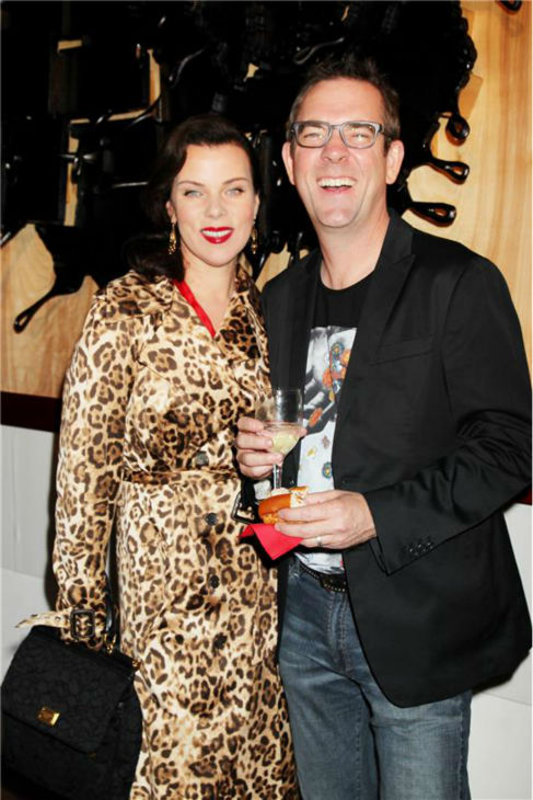 Debi Mazar, actress and co-host of the Cooking Channel&#39;s &#39;Extra Virgin,&#39; and Guy Fieri attend the channel&#39;s 20th birthday bash at the New York City Food and Wine Festival at Pier 92 on Oct. 17, 2013. <span class=meta>(Dave Allocca &#47; Startraksphoto.com)</span>