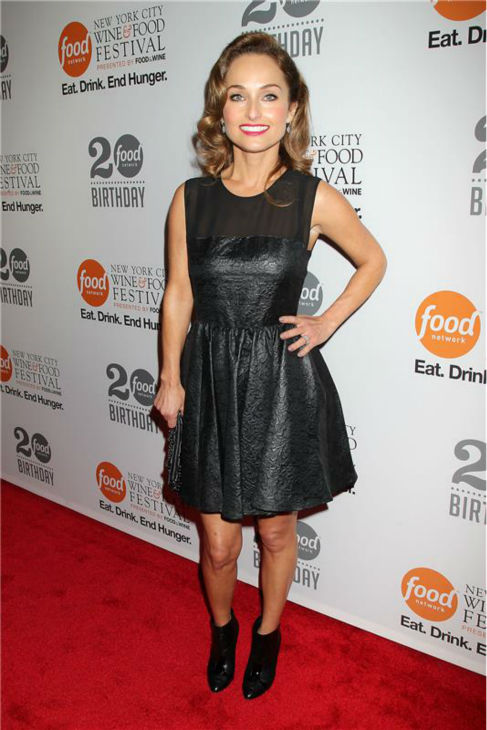 Giada De Laurentiis attends the Food Network&#39;s 20th birthday bash at the New York City Food and Wine Festival at Pier 92 on Oct. 17, 2013. <span class=meta>(Dave Allocca &#47; Startraksphoto.com)</span>
