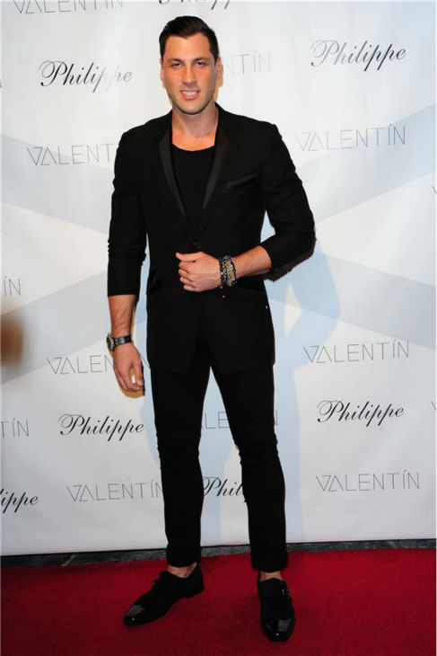 &#39;Dancing With The Stars&#39; pro dancer Maksim Cherkovskiy, who is not competing in the current 17th season, attends a launch party for VALENTIN, his brother and fellow show star Val Chmerkovskiy&#39;s urban streetwear couture brand clothing line, in Los Angeles on Oct. 17, 2013. <span class=meta>(Michael Simon &#47; Startraksphoto.com)</span>