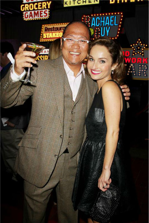&#39;Iron Chef America&#39; star Masaharu Morimoto and Giada De Laurentiis attend the Food Network&#39;s 20th birthday bash at the New York City Food and Wine Festival at Pier 92 on Oct. 17, 2013. <span class=meta>(Amanda Schwab &#47; Startraksphoto.com)</span>