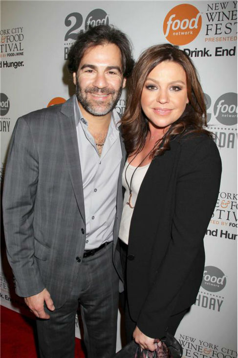 "<div class=""meta ""><span class=""caption-text "">Rachael Ray and husband John M. Cusimano attend the Food Network's 20th birthday bash at the New York City Food and Wine Festival at Pier 92 on Oct. 17, 2013. (Dave Allocca / Startraksphoto.com)</span></div>"