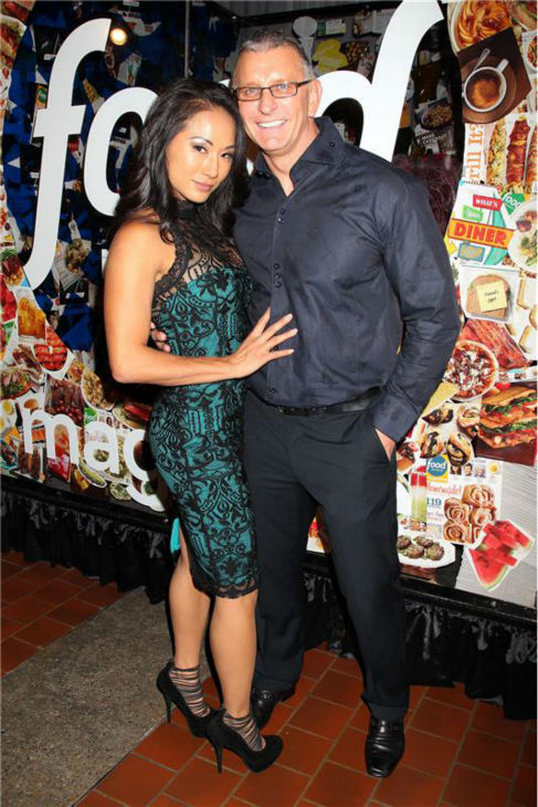 "<div class=""meta ""><span class=""caption-text "">'Restaurant: Impossible' star Robert Irvine and wife Gail Kim attend the Food Network's 20th birthday bash at the New York City Food and Wine Festival at Pier 92 on Oct. 17, 2013. (Dave Allocca / Startraksphoto.com)</span></div>"