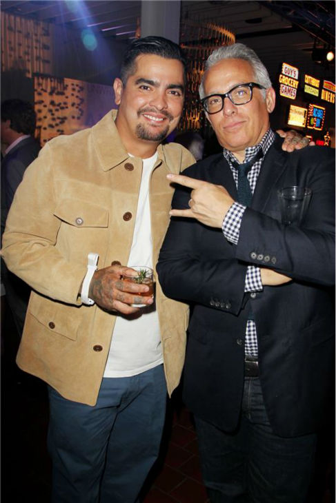 "<div class=""meta ""><span class=""caption-text "">'Chopped' co-judges Aaron Sanchez and Geoffrey Zakarian attend the Food Network's 20th birthday bash at the New York City Food and Wine Festival at Pier 92 on Oct. 17, 2013. (Amanda Schwab / Startraksphoto.com)</span></div>"