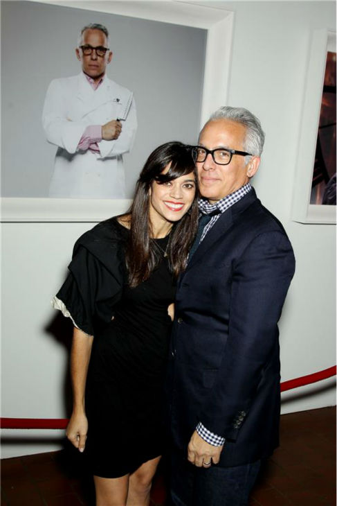 "<div class=""meta ""><span class=""caption-text "">'Chopped' co-judge Geoffrey Zakarian and his wife Margaret attend the Food Network's 20th birthday bash at the New York City Food and Wine Festival at Pier 92 on Oct. 17, 2013. (Marion Curtis / Startraksphoto.com)</span></div>"
