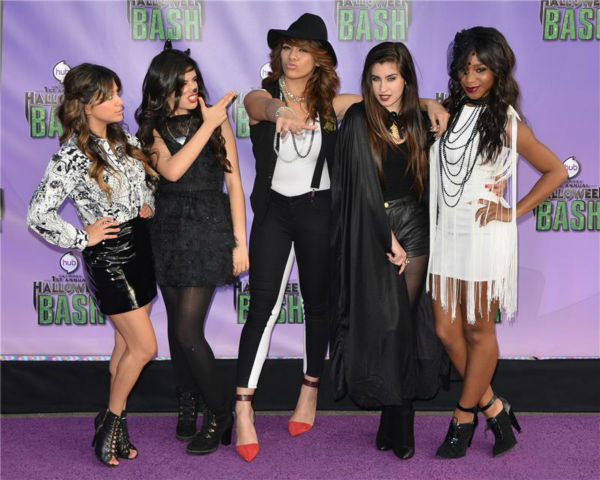Members of the girl group Fifth Harmony attend the Hub Network&#39;s first annual Halloween Bash in Santa Monica, California on Oct. 20, 2013. <span class=meta>(Tony DiMaio &#47; Startraksphoto.com)</span>