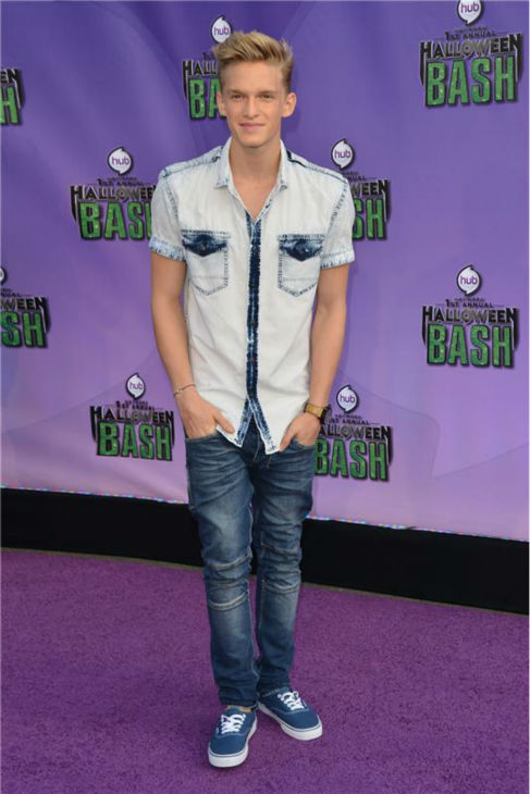 "<div class=""meta image-caption""><div class=""origin-logo origin-image ""><span></span></div><span class=""caption-text"">Singer Cody Simpson attends the Hub Network's first annual Halloween Bash in Santa Monica, California on Oct. 20, 2013. (Tony DiMaio / Startraksphoto.com)</span></div>"
