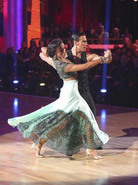 Olympic speed skater Apolo Anton Ohno and his partner Karina Smirnoff received 29.5 out of 30 points from the judges for their  Tango on &#39;Dancing With The Stars: All-Stars,&#39; which aired on November 12, 2012.  <span class=meta>(ABC &#47; OTRC)</span>