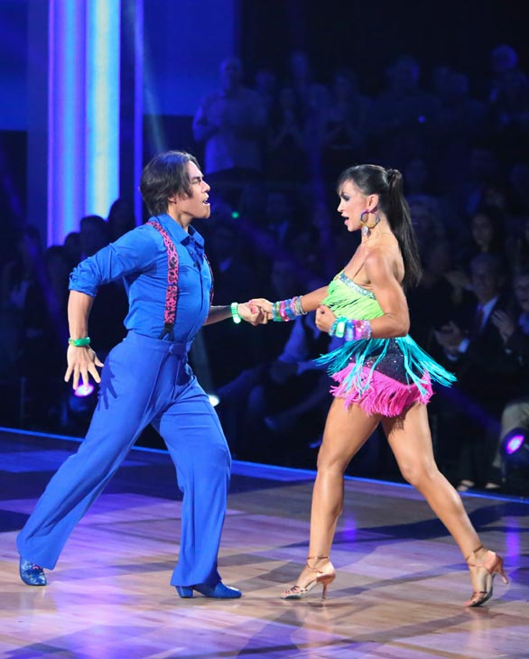 Olympic speed skater Apolo Anton Ohno and his partner Karina Smirnoff received 22 out of 30 points from the judges for their Cha Cha Cha on the season premiere of &#39;Dancing With The Stars: All-Stars,&#39; which aired on September 24, 2012.  <span class=meta>(ABC &#47; Adam Taylor)</span>