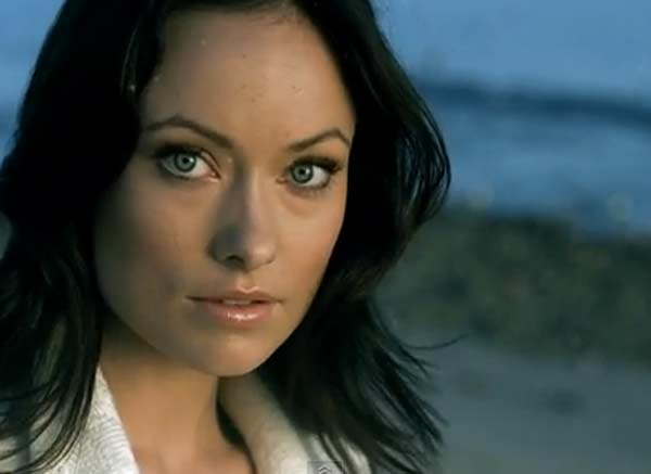 Olivia Wilde appears in a scene from Dashboard Confessional's 2006 music video 'Stolen.'