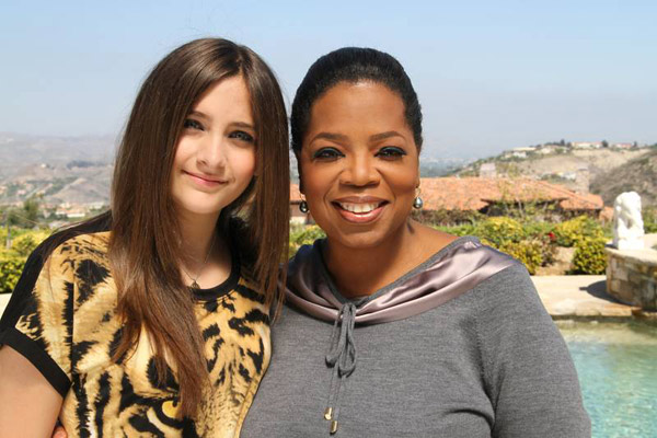 Paris Jackson (left), poses with Oprah Winfrey....