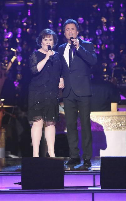 "<div class=""meta ""><span class=""caption-text "">'Dancing with the Stars' Season 9 champion Donny Osmond returned to the ballroom on 'Dancing With The Stars: The Results Show' on October 16, 2012, to perform a duet with Susan Boyle called 'This Is the Moment.' It was accompanied by dancers Kym Johnson, Tristan McManus, Anna Trebunskya and Henry Byalikov.   (ABC Photo)</span></div>"